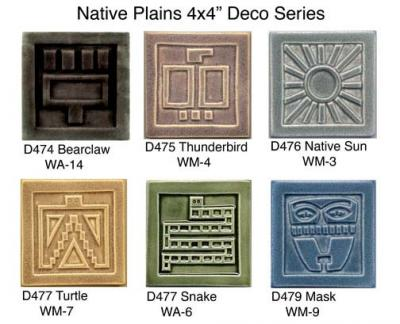 Handmade ceramic tiles native plains ceramic tiles for Native american tile designs