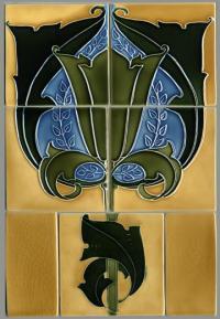 Minton Nouveau Tile Panel