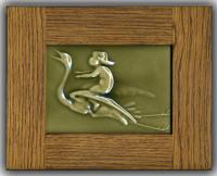 Stork Delivering Baby  - with frame