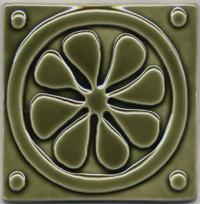 Medieval Flower - Olive Green